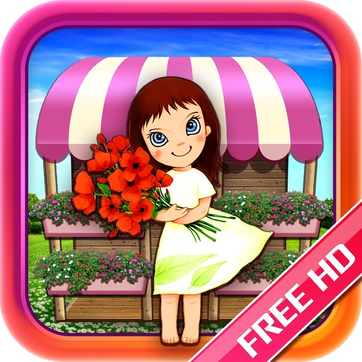 Gold Designer Flower Girl Free HD iOS App