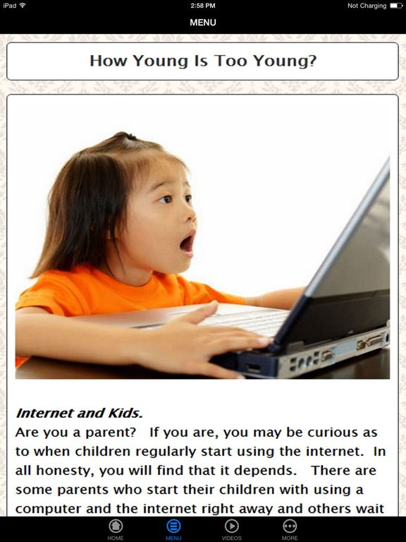 internet safety and young children