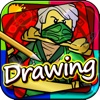 "Drawing Desk Draw and Paint games on Coloring Book Edition - ""Lego Ninjago version"""