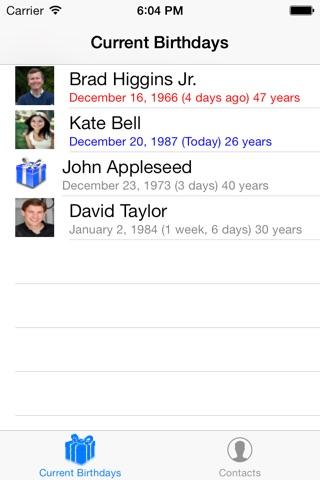 Birthday Reminders screenshot 1