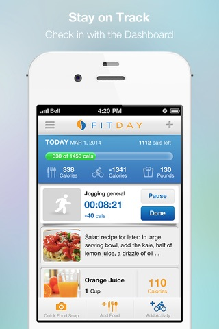 FitDay - Free Diet and Weight Loss Journal screenshot 1