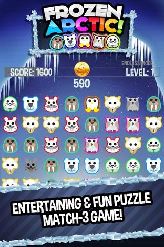 Frozen Arctic - Fun Match Three Puzzle Game screenshot 1