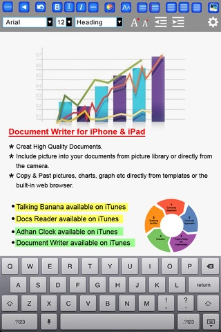 Document Maker - Create & Edit Rich Text Docs and Generate PDF screenshot 2
