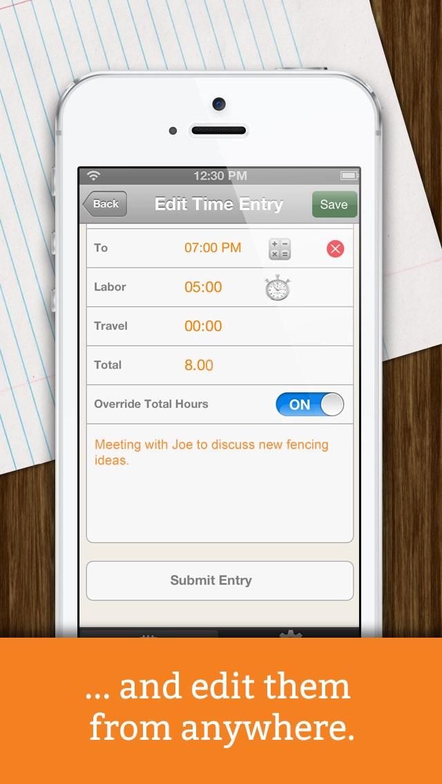 Screenshot of Time Tracker + Billing by eBillity4