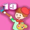 ABC Книжка-раскраска 19 - Живопись для Цветок