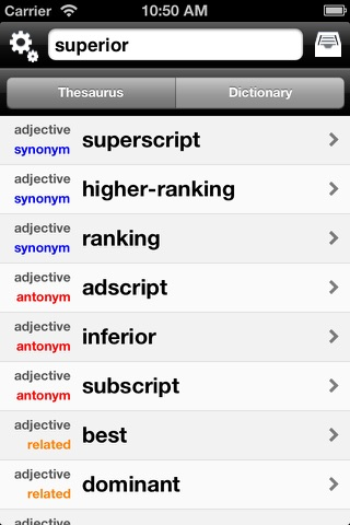 FreeSaurus - The Free Thesaurus! screenshot 3