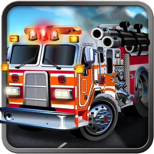 3D Fire Truck Parking Simulator HD -Real Fire Smasher