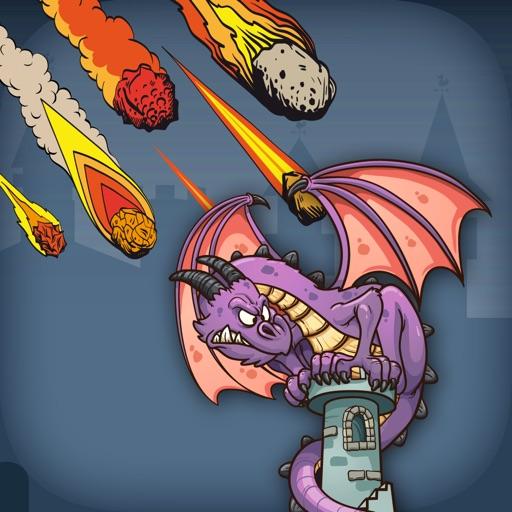 Dragon VS Fire Ball - FREE - Flying Lizard Armor Meteoric Invaders iOS App