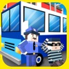Blocky Police Prison Transport 3D