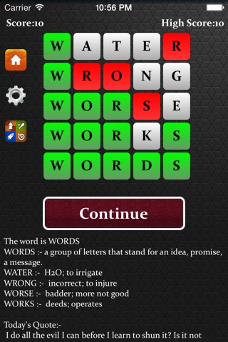 Five Letter Words screenshot 1