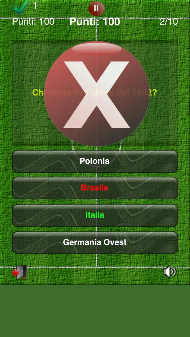 Screenshot of MundialQuiz - Il gioco a quiz sull'evento principale del calcio!3