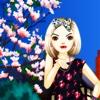 樱花下的女娃娃