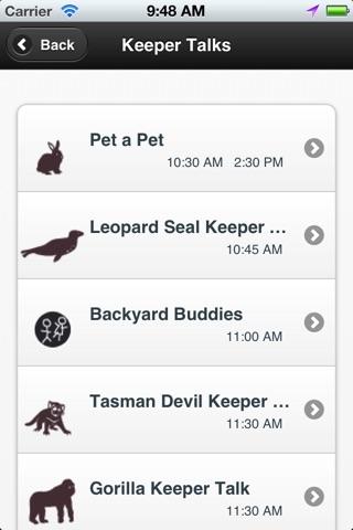 Taronga Zoo Sydney map & shows screenshot 4