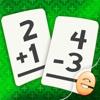 Addition Und Subtraktion Mathe-Flashcard Spiel Für Kinder In Der 1. Und 2. Klasse
