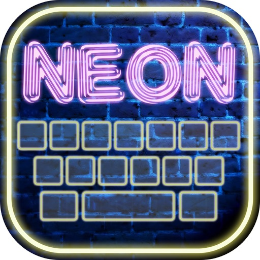 Neon Keyboard Maker – Glowing Keyboards Themes with Fancy Fonts and