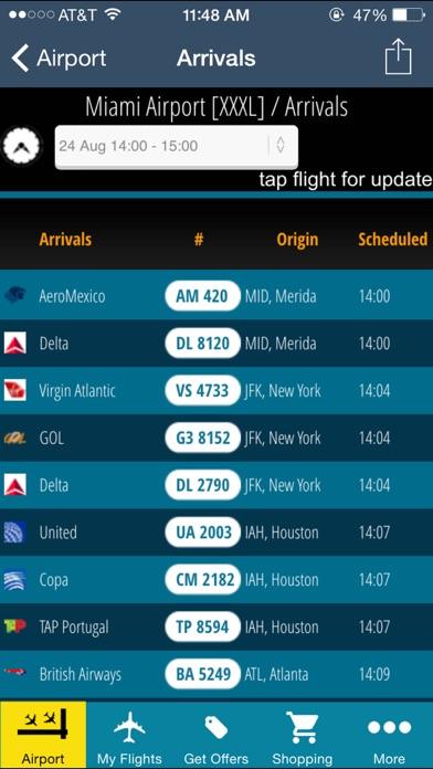 t l charger miami airport mia flight tracker radar pour iphone ipad sur l 39 app store voyages. Black Bedroom Furniture Sets. Home Design Ideas