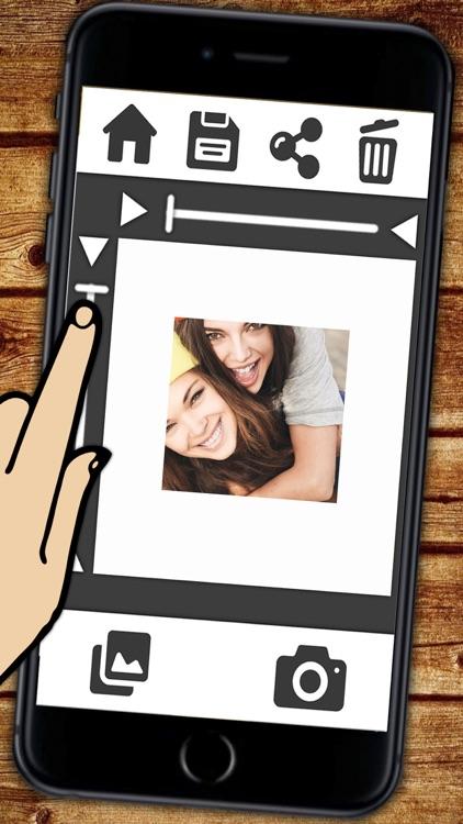Insta white frame for Instagram photos with a white border - Premium ...