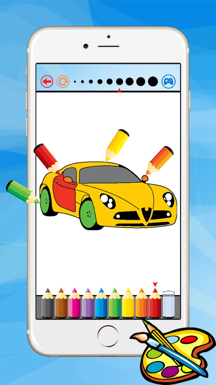 Super Car Coloring Book Vehicle Drawing For Kid Free Game Paint And Color Games