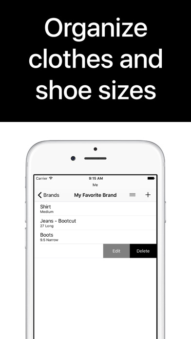 download Clothes Organizer - Size Manager for Shoes, Clothing, and Fashion Shopping apps 2