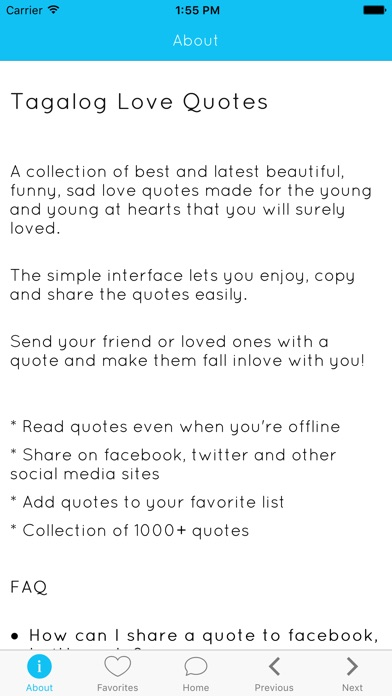 Tagalog Love Quotes on the App Store