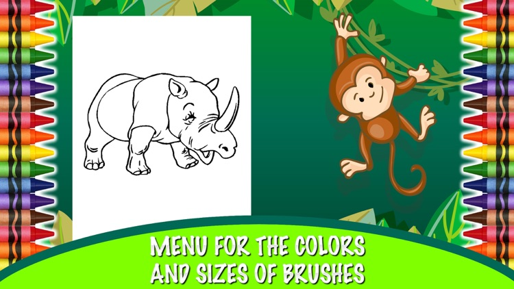 Coloring Book Zoo Animals - Zoo Animals For Children To Learn to ...
