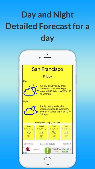Температуру Prediction- ближайшие 4 дняСкриншоты 5