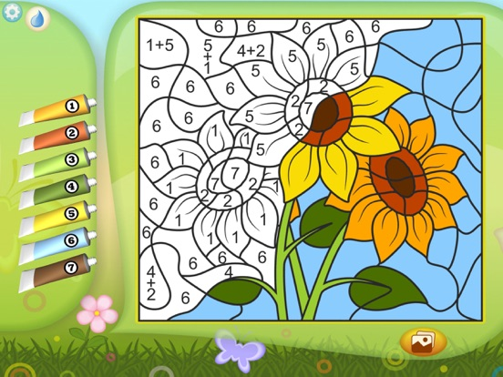 Раскрась по номерам - Цветы для iPad