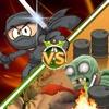 Ninja vs Zombies Premium commander howitzer weapons