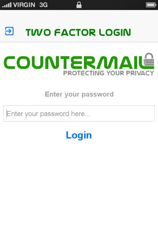 CounterMail - Two-factor Login screenshot 1