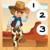 123 Baby & Kid-s Learn-ing To Count-ing Number-s To Ten Game-s: Free Play-ing & Learn-ing Fun with Cow-Boys