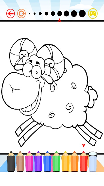 Farm Animals Coloring Book for Kids and Toddlers - All Page Coloring ...