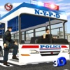 Police Bus Staff Duty Transport 3D - New York City Police Department Pick & Drop Simulator