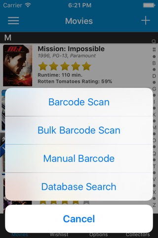 Movie Collector Database Pro screenshot 1