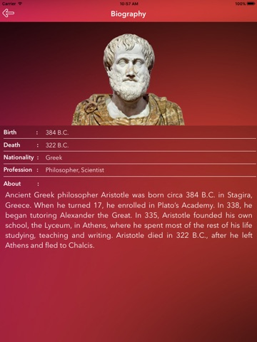 a biography of aristotle an ancient greek philosopher A humbly born man who refused the lucrative mantle of the and the remarks of plato's student aristotle, as well as.