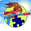 Fun Game Amazing Power Girl Jigsaw Puzzle For Kids