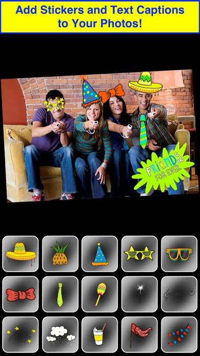Party Booth - Live Camera Stickers and Fun Photo EditorScreenshot of 3