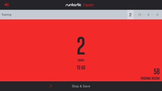 Runtastic Squats Trainer PRO Screenshots
