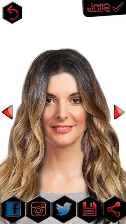 Ombre Hair Color Changer Fashion Hairstyle Makeover Photo Editor