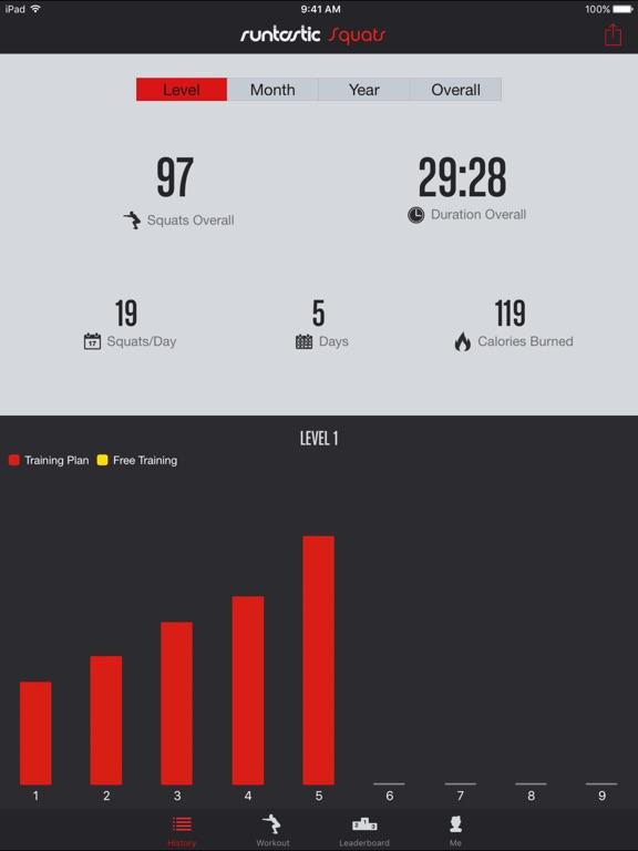 Runtastic Squats Trainer PRO Screenshots