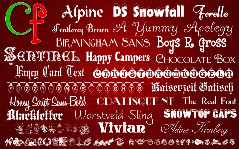 Free Fonts - Christmas Collection on the Mac App Store