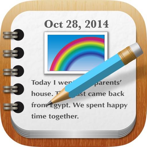 RainbowNote: 日記や写真入りメモに便利な、カレンダー付きノート