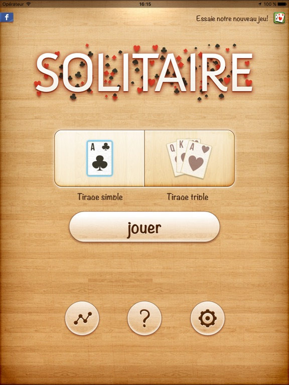 solitaire en fran ais dans l app store. Black Bedroom Furniture Sets. Home Design Ideas