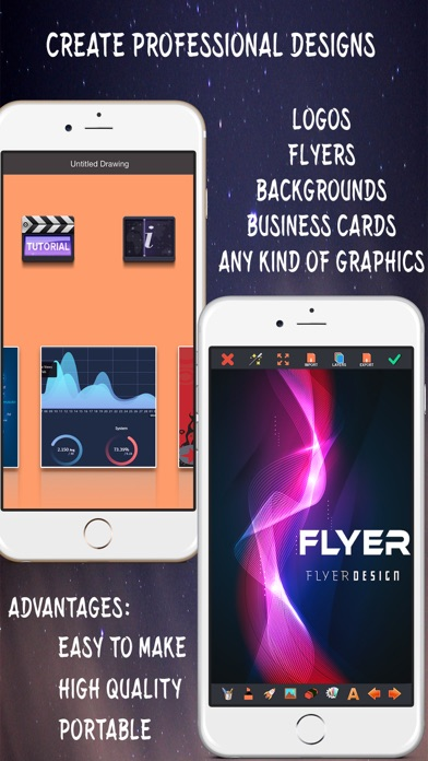 Screenshot #1 pour Créer des Flyers & Logos Maker
