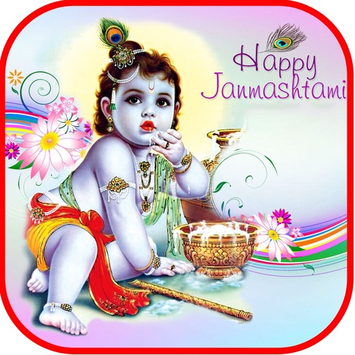 Janmastami Greetings - Nand Gher Anand Bhayo iOS App