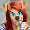 Snappy Dog Face and Ears Rainbow Maker Camera HD