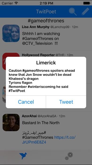 TwitPoet screenshot one