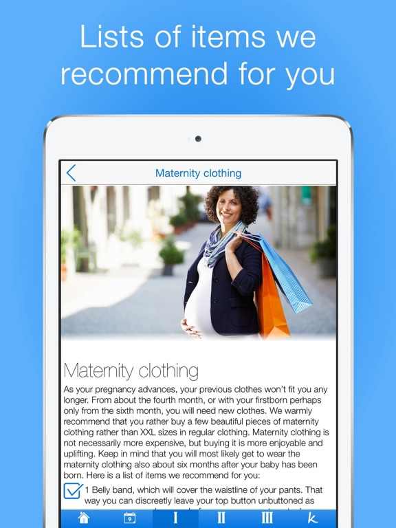 Pregnancy Checklists PRO Screenshots