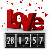 Wedding and Honeymoon Countdown Timer - Love Count Down Clock (Counting how many days and time until…)