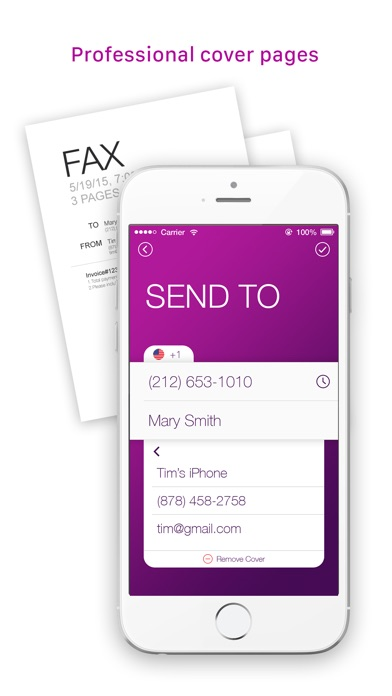 download Tiny Fax: send fax from iPhone appstore review