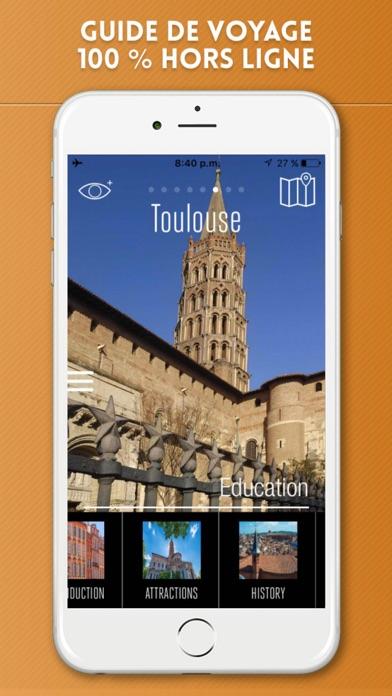 Toulouse Guide de Voyage avec Carte OfflineCapture d'écran de 1